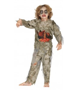 Disfraz de Zombie Intestinos Infantil