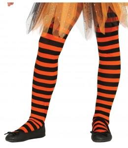 Panty Naranja y Negro Infantil