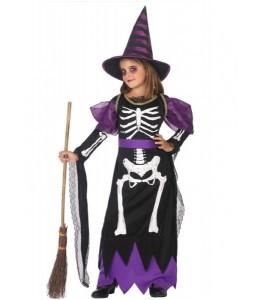 Disfraz de Bruja Esqueleto Infantil