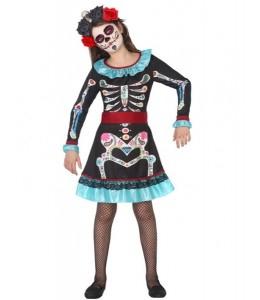 Disfraz de Catrina Azul Infantil