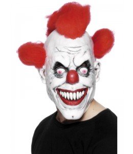 Mascara de Payaso Asesino Rojo