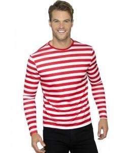 Camiseta Rayas Roja y Blanca