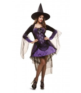 Disfraz de Bruja Glamour Lila