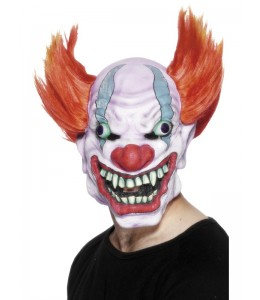Mascara  de Payaso en Llamas