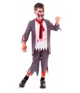 Kostüm Student Zombie-Kinder