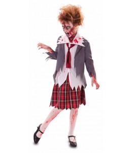 Disfraz de Colegiala Zombie Infantil