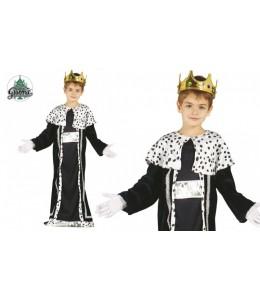 Disfraz de Rey Mago Azul y Plata Infantil