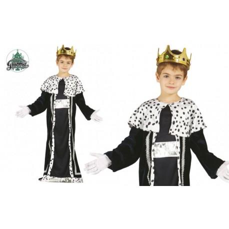 Disfraz de Rey Mago Verde Plata Infantil