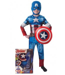 Disfraz de Capitan America y Escudo en Caja Infantil
