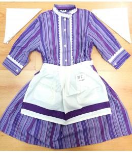 Set Home-made Stripes Purple and Lilac