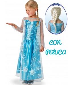 Disfraz de Elsa con Peluca