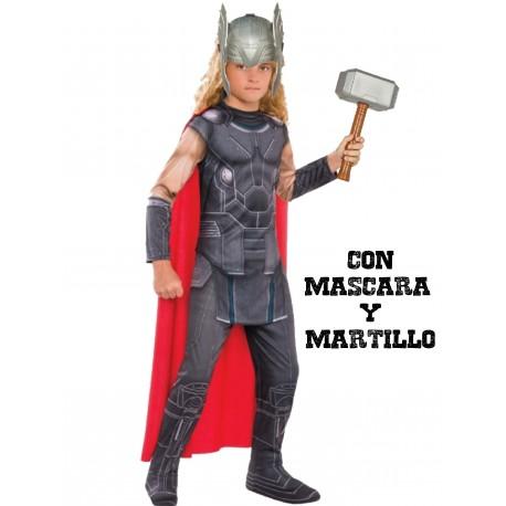 0371133ed Comprar Disfraz de Thor con martillo y mascara por solo 36.00€ – Tienda de  disfraces online