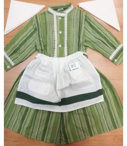 Set Homemade Green Stripes