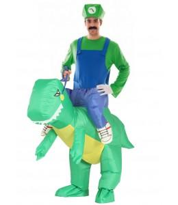 Disfraz de Fontanero verde en Dino