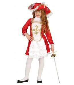 Disfraz de Mosquetera Infantil
