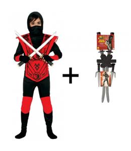Déguisement de Ninja avec des Katanas
