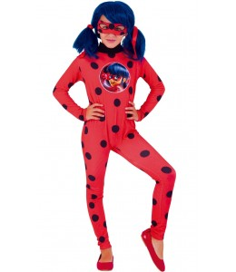 Costume Lady Bug Child with Drawing