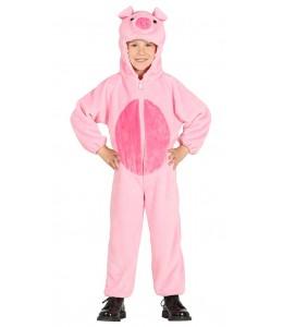 Costume De Cochon En Peluche