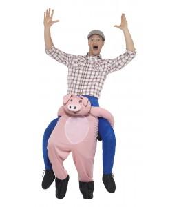 Kostüm Schwein auf den Schultern