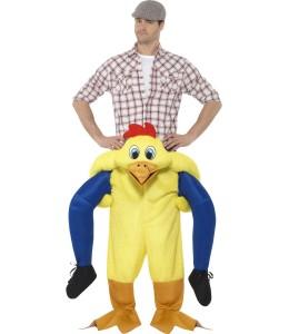Kostüm Huhn auf den Schultern