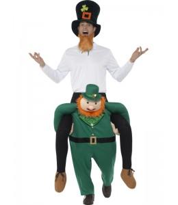 Costume Leprechaun on his Shoulders