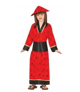 Costume de Chine Rouge Enfant