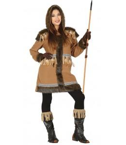 Disfraz de Esquimal Chica Marron