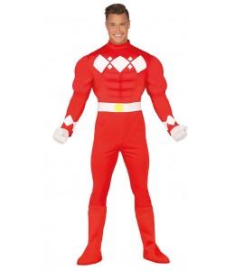 Disfraz de Guerrero Ranger Rojo