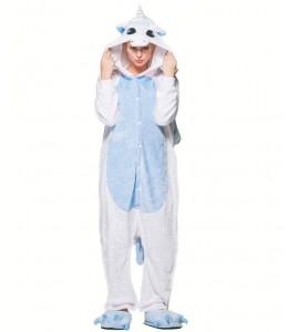 Disfraz de Unicornio Peluche Azul