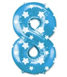 Globo Azul Numero 8 de Foil