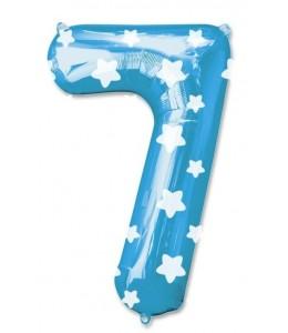 Globo Azul Numero 7 de Foil