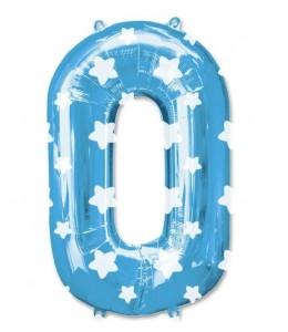 Globo Azul Numero 0 de Foil