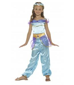 Costume De Princesse Arabe Bleu Enfant