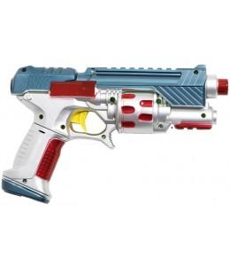 Pistola Galactica Plata y Rojo