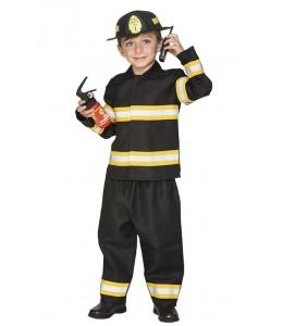 Disfraz de Bombero Negro Infantil