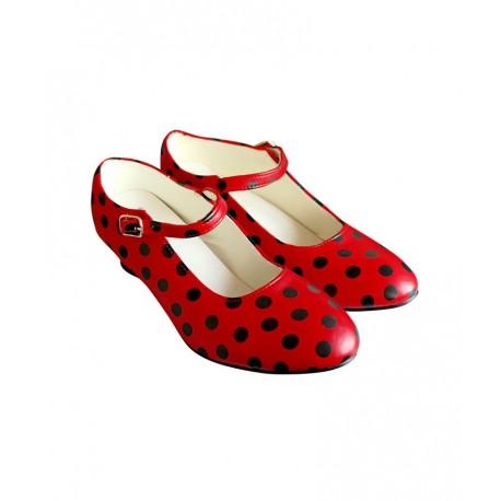 Zapatos Tacon Rojo y Negro