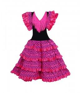 Disfraz de Sevillana Rosa y Negro Infantil