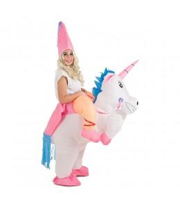 Hinchable Unicornio con princesa
