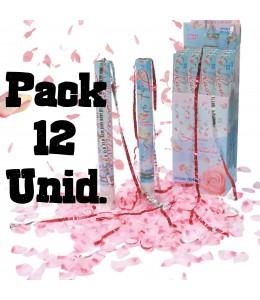 Pack 12 cañones de Petalos Rosas