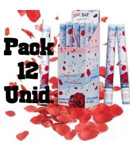 Pack 12 cañones de Petalos Rojos