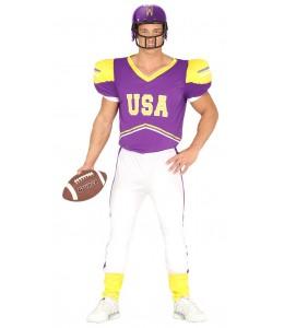 Disfraz de Quarterback Morado