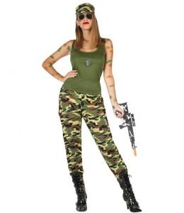 Disfraz de Militar Tirantes Mujer