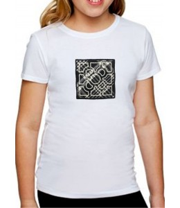 T-Shirt À Carreaux Fille