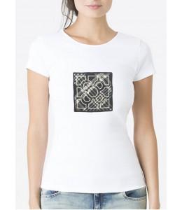 T-Shirt À Carreaux Femme