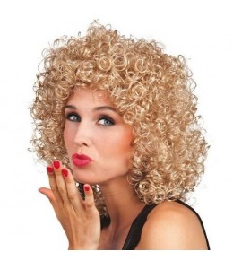Perücke Locken Blond Club