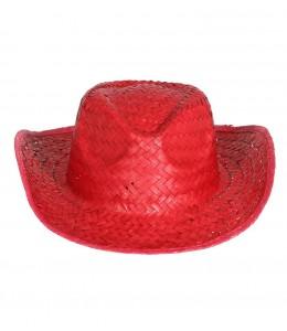 Sombrero de Paja Rojo