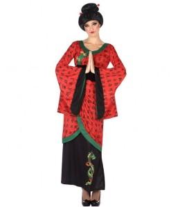 Disfraz de Geisha Rojo