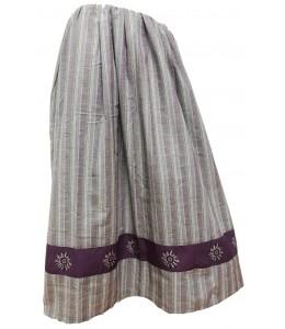 Rock Hausgemachte Streifen lila Grau mit Eguzkilore