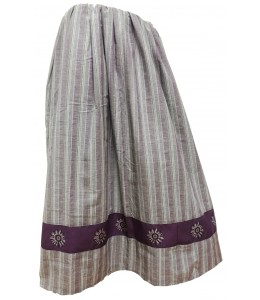 Skirt Homemade Striped Purple and Grey with Eguzkilore