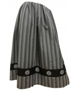 Skirt Home made Stripes Gray with Eguzkilore